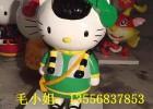 供应彩绘玻璃钢卡通KT猫雕塑