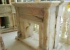生产、销售各类天然玉石雕刻壁炉架