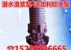 潜水渣浆泵50ZJQ45-19杂质泵稠物吸浆泵带搅拌砂浆泵
