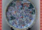 陶瓷大瓷盘,手绘青花大瓷盘,工艺品瓷盘定制批发