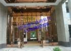 高端大气玫瑰金不锈钢花格大门、高级定制加工酒店装饰大门