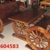 供应防腐实木车轮桌椅 原生态桌椅 户外阳台咖啡厅山庄休闲桌椅