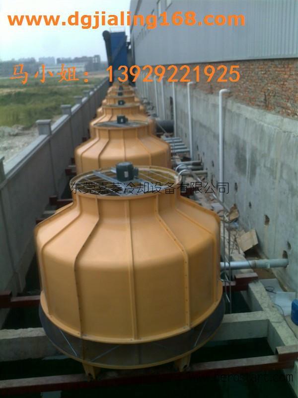 300T冷却塔逆流圆形冷却塔公明玻璃钢冷却塔安装