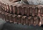 锡青铜蜗轮定制 8模蜗轮厂家 磨边机蜗轮定制