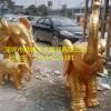 家门口风水装饰仿真动物雕塑 玻璃钢大象雕塑价格生产厂家