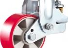 供应双弹簧铝芯聚氨酯减震脚轮