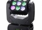 供应金耐特JNT-LY10 9颗10W LED 摇头矩阵灯