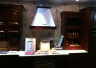 供应意米特308F 高端红木橱柜 顶吸式油烟机 实木油烟机