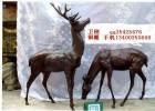供应铜雕鹿,铜雕塑梅花鹿,园林铜雕塑,动物铜雕塑