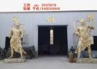 现货供应铜雕佛像,铜雕哼哈二将,铸铜佛像厂家