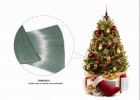 供应PVC松针丝 圣诞树仿真丝 混色丝松针 仿真松针丝