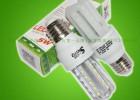 索能5W 3U型白光E14透明管LED玉米灯