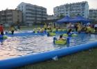 打气的儿童宝宝戏水池 大号儿童充气游泳池 吹气方形宝宝戏水池