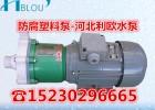 FSB氟塑料脱酸泵自控自吸泵高温氟塑料循环泵32FSB-20
