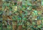 厂家生产半宝石装饰材料,贝壳马赛克,木化石,虎眼石
