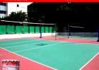 硅PU排球场宝安绿色环保材料村委会优质工程硅PU排球场