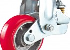 供应高性能铁芯聚氨酯减震脚轮 避震脚轮