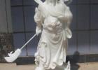 财神关羽雕塑佛像  汉白玉关公 工艺摆件
