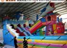 游乐攀岩气垫乐园  暑假经营充气玩具 专门销售气垫的厂子