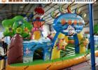 气模充气玩具游乐厂电话 气垫滑梯赶庙会生意好 充气滑滑梯报价