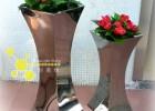 定制酒店不锈钢花瓶,软装装饰花瓶