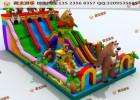 游乐攀岩气垫乐园 专门销售气垫的厂子 充气滑梯游乐设施