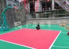 篮球场运动拼装地板 聚丙烯材料运动地板 室外地垫