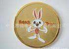 中山厂家专业生产 圆形小兔沙底小徽章 烤漆纪念徽章