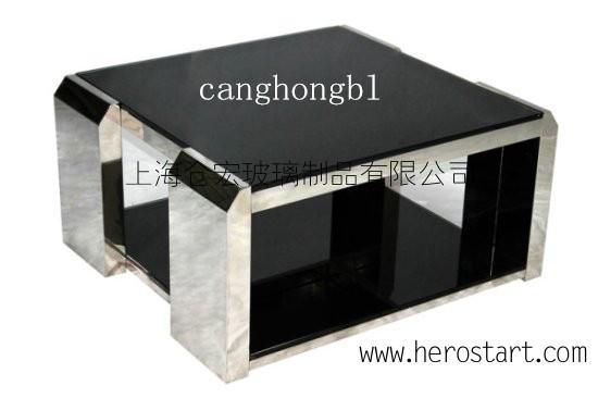 供应10MM纯黑色钢化玻璃
